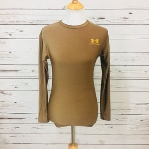 {UNDER ARMOUR} Brown Long Sleeved Tee